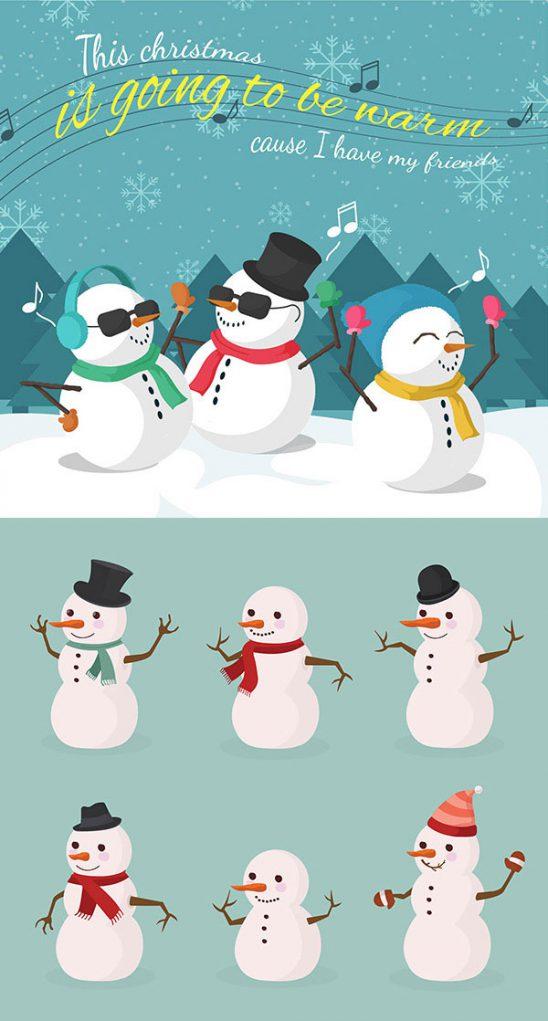 p573 548x1021 - لایه باز آدم برفی های بامزه ویژه گرافیک کتاب کودکان مهدکودک ها و تصویر سازی پوستر مهدها