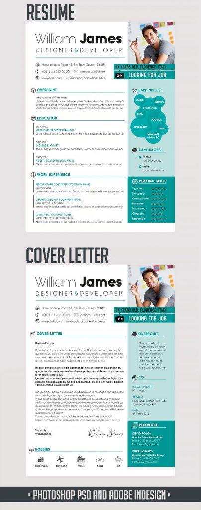 p574 404x1024 - لایه باز CV رزومه حرفه ای با بخش های مختلف جهت معرفی توانمندی ها با دو طرح رزومه و سربرگ نامه