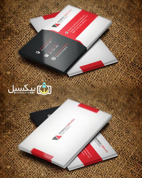 p582 548x690 - قالب آماده لایه باز کارت ویزیت مدرن مشکی قرمز و سفید بسیار زیبا و خلاقانه بصورت طرح آماده