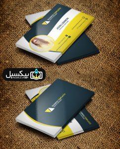 p583 242x300 - لایه باز کارت ویزیت مدرن مشکی زرد و سفید بسیار زیبا و خلاقانه بصورت طرح آماده با تصویر دختر خوشگل