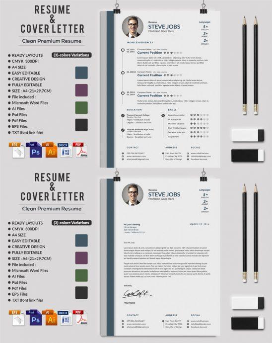 p593 548x690 - لایه باز CV رزومه حرفه ای با بخش های مختلف جهت معرفی توانمندی ها با دو طرح رزومه و سربرگ نامه