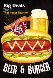 m226 204x300 - دانلود لایه باز تراکت یا پوستر فست فود و پیتزا و ساندویچ