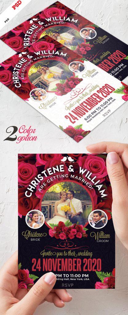 p674 417x1024 - لایه باز کارت پستال عروسی یا کارت تبریک عروسی در دو پس زمینه تیره و روشن