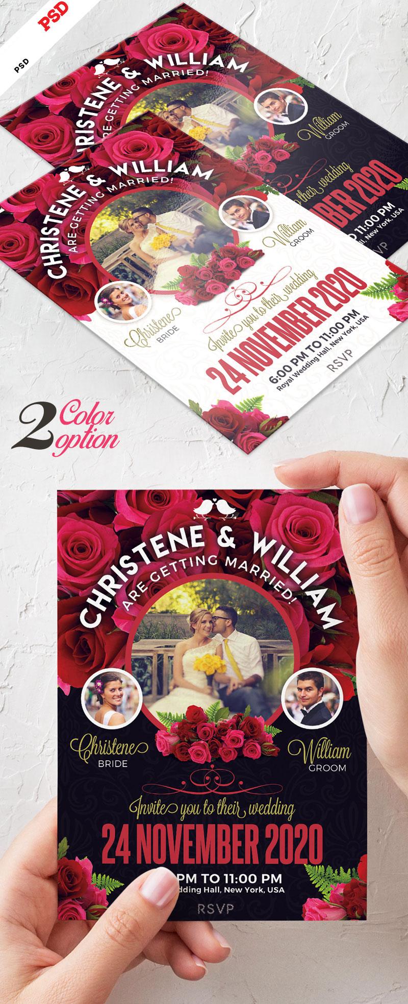 p674 - لایه باز کارت پستال عروسی یا کارت تبریک عروسی در دو پس زمینه تیره و روشن