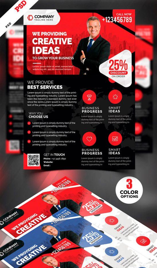 p676 548x935 - لایه باز پوستر انتخاباتی یا معرفی خدمات شرکت با رنگ قرمز و آبی جذاب