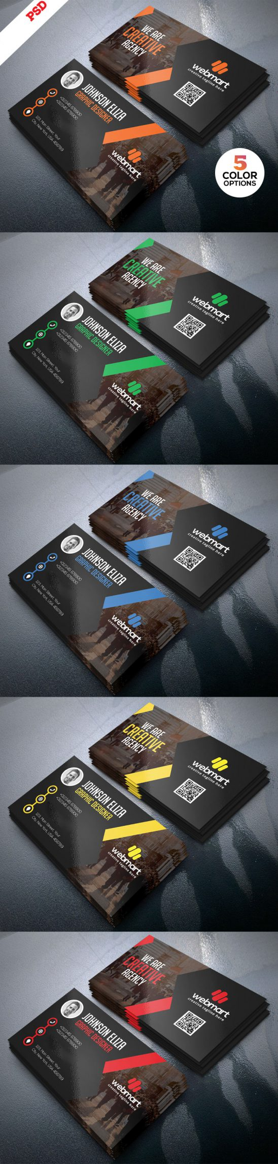 p679 548x2289 - لایه باز کارت ویزیت تجاری اداری با قابلیت درج عکس پرسنلی و qrcod