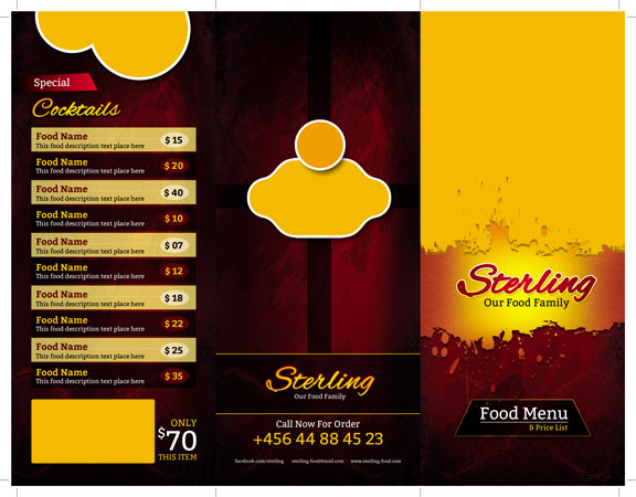 m256 - دانلود لایه باز کاتالوگ یا پوستر منوی رستوران،کافه،اغذیه فروشی،کافی شاپ
