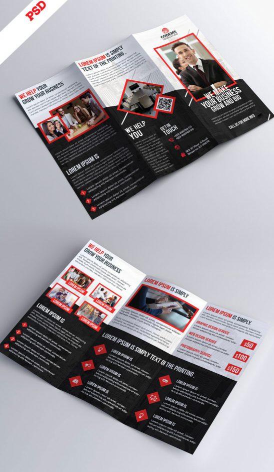 p678 548x941 - بروشور سه لت یا لایه باز کاتالوگ معرفی خدمات تجاری و مراکز آموزشی