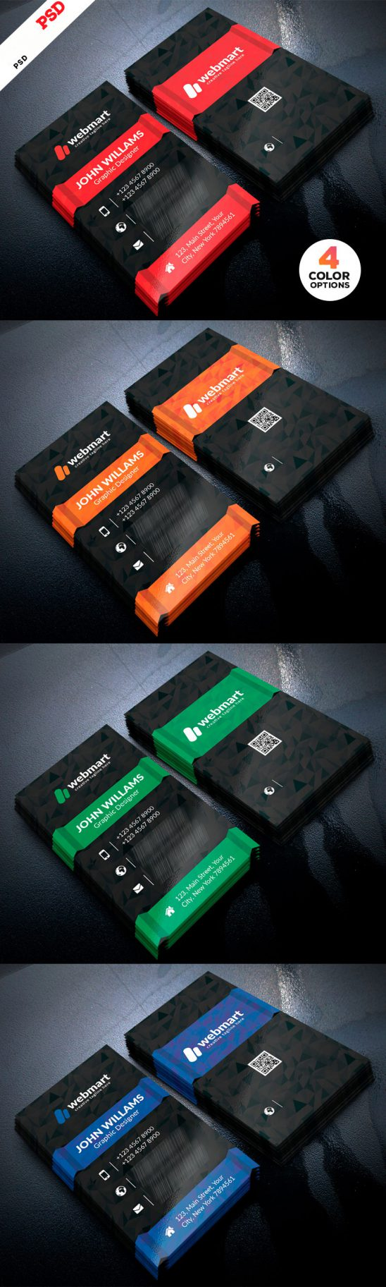 p683 548x1825 - کارت ویزیت لایه باز تجاری اداری با قابلیت درج عکس پرسنلی و qrcod