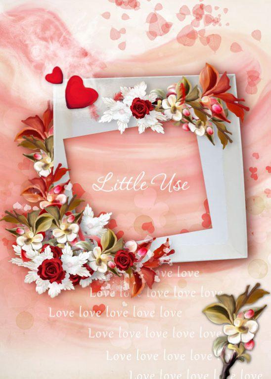 p691 548x767 - قاب گل بسیار زیبا و لطیف جهت درج عکس های فامیلی یا کودک دلبندتان