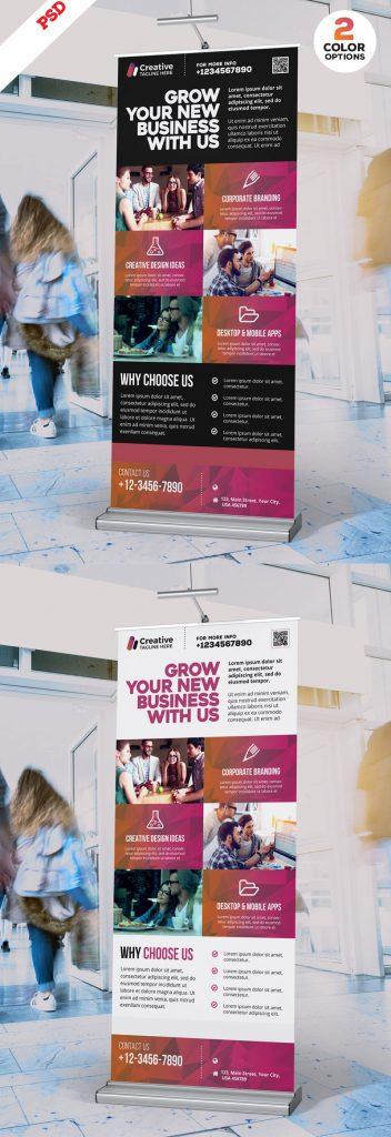 p696 352x1024 - لایه باز استند مراکز آموزشی و بنر اطلاع رسانی خدمات تجاری و آموزشی ویژه معرفی دانشگاه ها