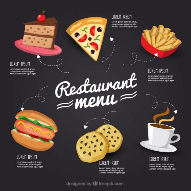 h17s - لایه باز منوی غذای فست فود، رستوران و کافی شاپ