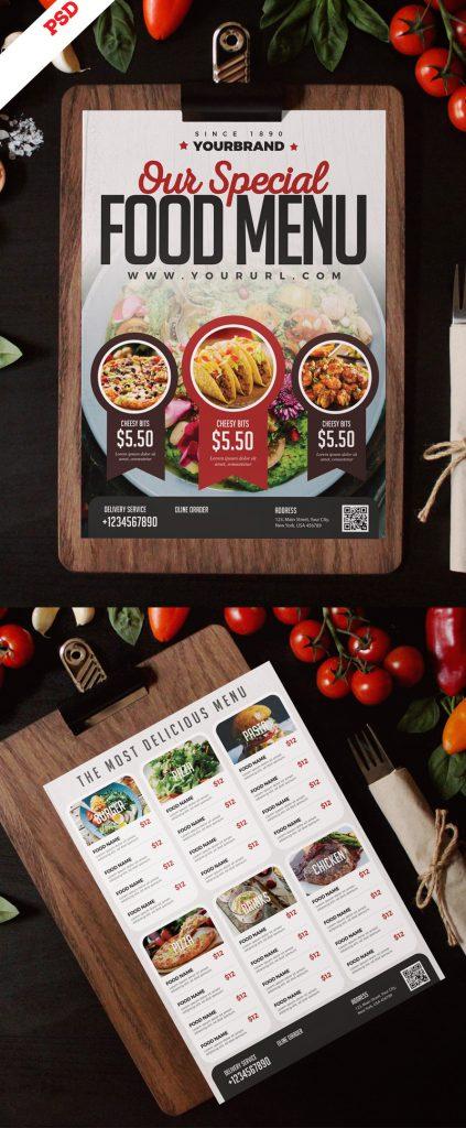 p705 423x1024 - لایه باز منوی غذای رستوران فست فود و آشپزخانه غذای خوشمزه بصورت طرح آماده