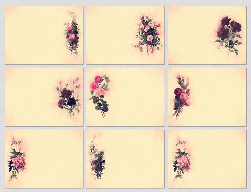 p708 - 9 عکس گل زیبای کوچک طرح قدیمی ویژه شبکه های اجتماعی و درج پیام های فرهنگی و عاشقانه