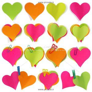 00875 300x300 - قلب های کاغذی رنگی عاشقانه