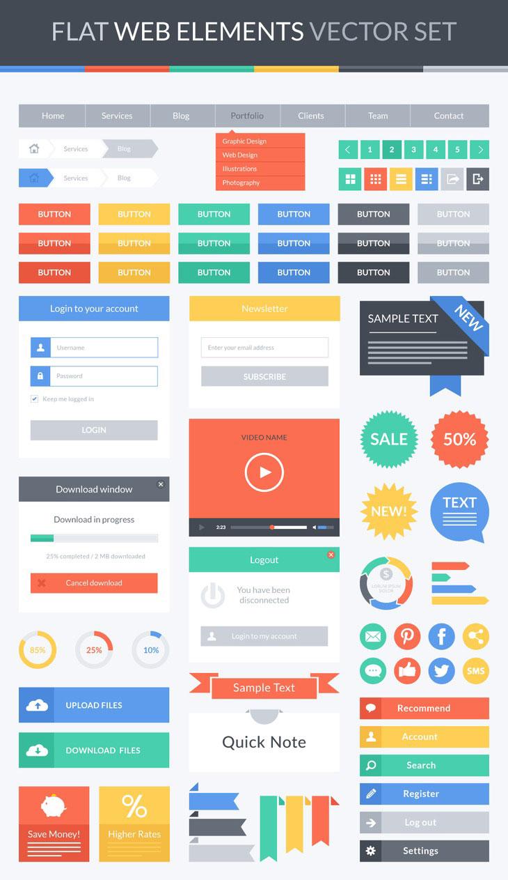 p546 - ابزار طراحی وبسایت و وب اپلیکیشن مورد استفاده در سایت های با طراحی فلت