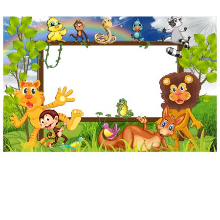 m237 - دانلود لایه باز فریم های کارتونی و انیمیشینی برای طراحی تراکت و پوستر مهدکودک و پیش دبستانی و کودکان