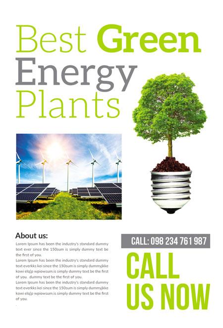 m274 - دانلود لایه باز تراکت یا پوستر الکتریکی و انرژی پاک و سبز