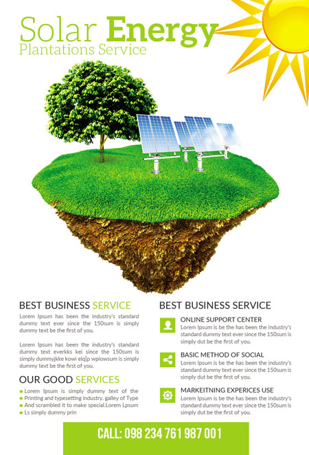 m282 - دانلود لایه باز تراکت یا پوستر الکتریکی و انرژی پاک و سبز