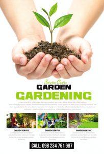 m336 204x300 - دانلود لایه باز تراکت یا پوستر باغبانی و گل کاری