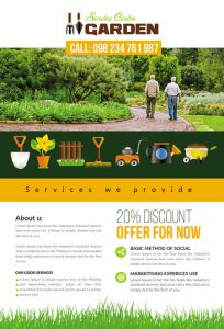m337 204x300 - دانلود لایه باز تراکت یا پوستر باغبانی و گل کاری