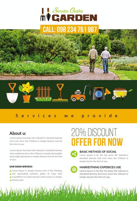 m337 - دانلود لایه باز تراکت یا پوستر باغبانی و گل کاری