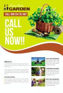 m339 204x300 - دانلود لایه باز تراکت یا پوستر باغبانی و گل کاری