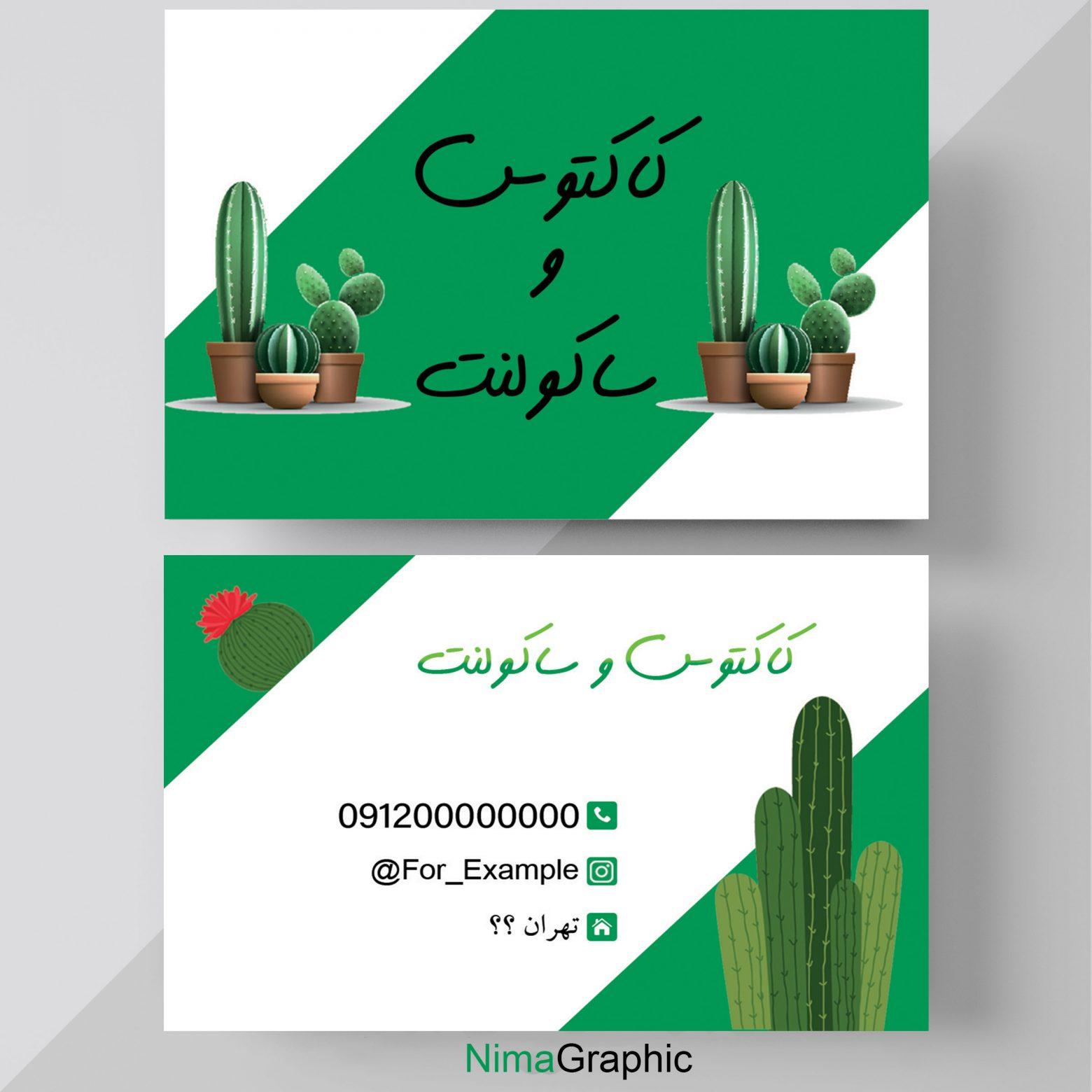 1104 1560x1560 - کارت ویزیت لایه باز کاکتوس و ساکولنت