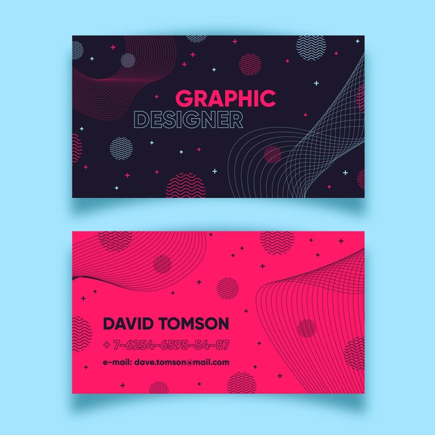 abstract colorful business card template set 23 2148468299 - لایه باز کارت ویزیت انتزاعی