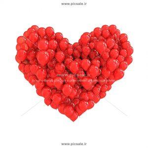 001011 300x300 - قلب با بادکنک های قرمز زیبا