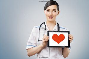0010126 300x199 - خانم پرستار یا دکتر با قلب قرمز