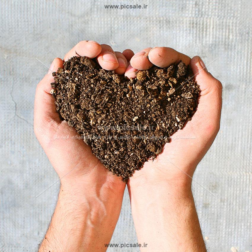 0010138 - قلب زیبا با خاک