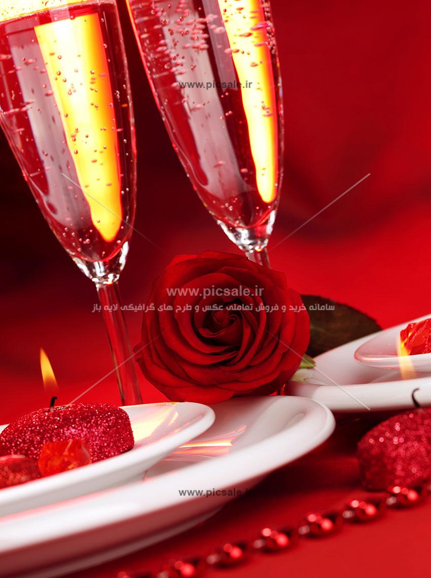 0010153 - شمع های قلبی عاشقانه