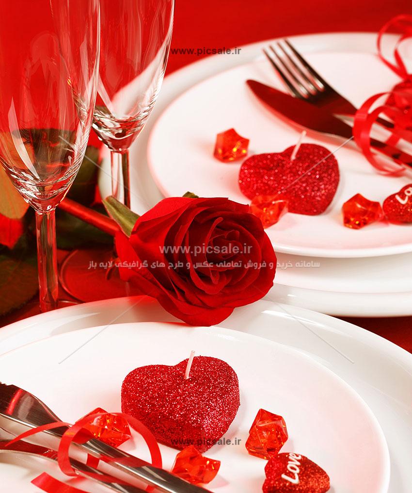 0010154 - شمع های قلبی عاشقانه