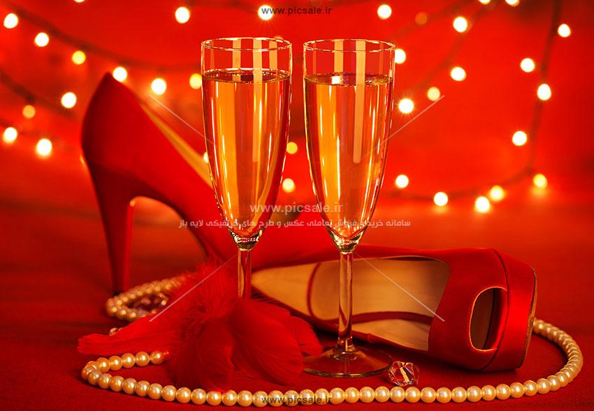 0010155 - کفش قرمز زنانه زیبا