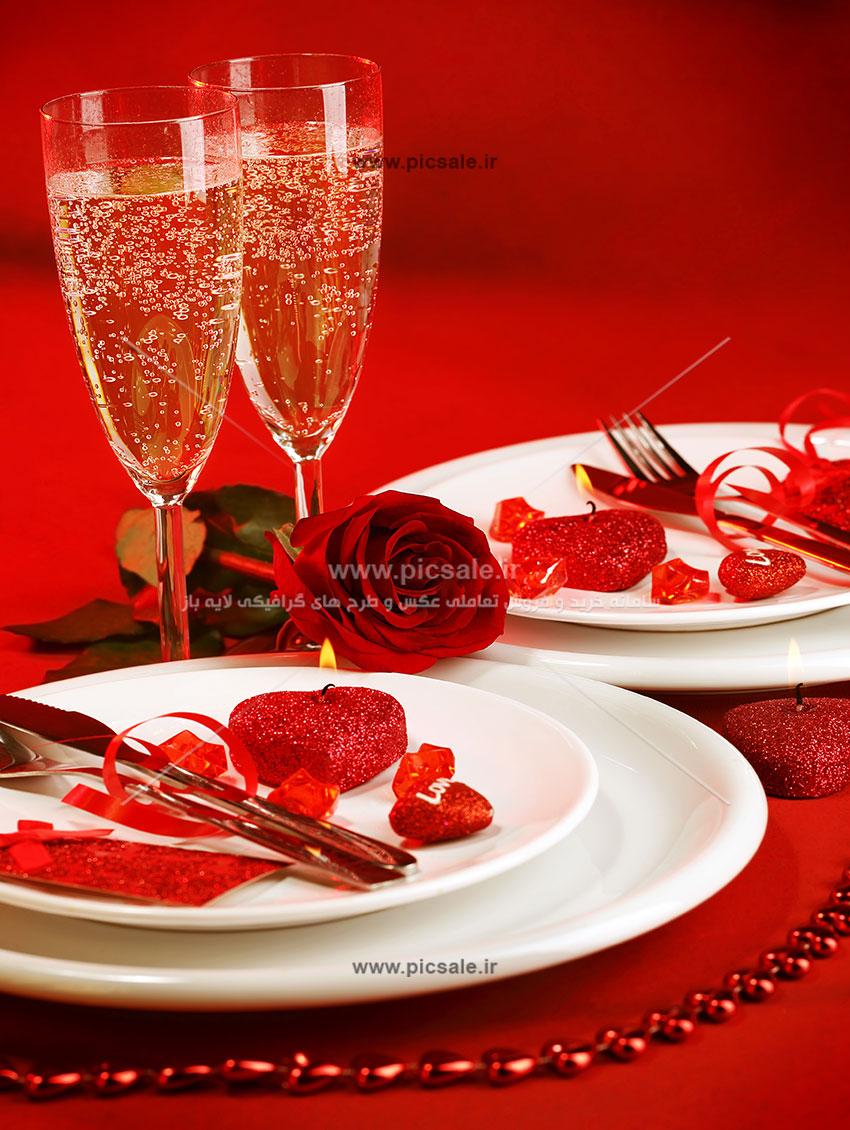 0010156 - شمع های قلبی عاشقانه