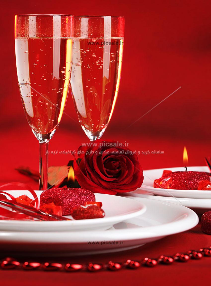 0010158 - شمع های قلبی عاشقانه