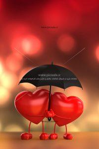 001050 200x300 - قلب های قرمز زیر چتر عاشقانه