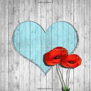 001081 300x300 - قلب آبی عاشقانه