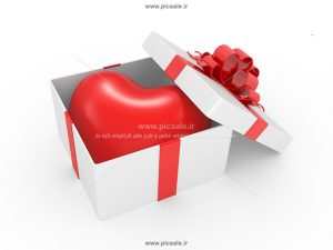 00901 300x225 - قلب داخل جعبه سفید زیبا