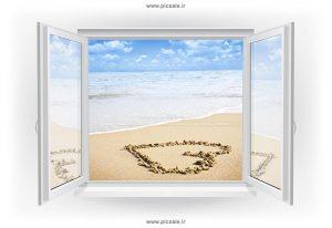 00940 300x206 - پنجره باز شده به کنار ساحل یا دریا