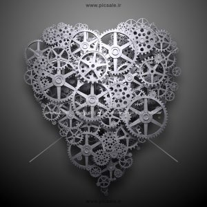 00998 300x300 - قلب چرخ دنده ای آهنی زیبا
