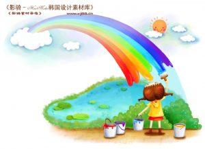 0908s 300x217 - دانلود تصویرسازی دختر بچه در حال نقاشی
