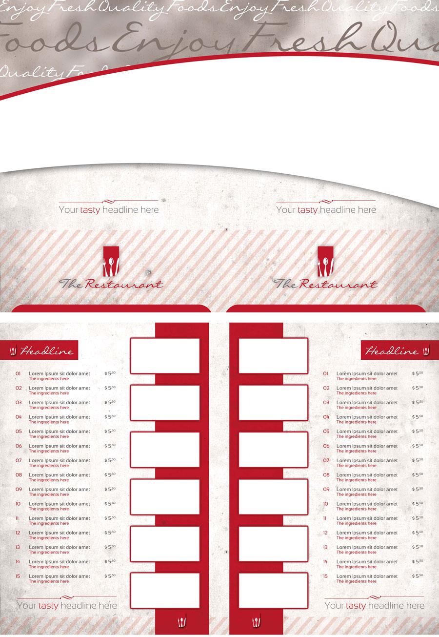 P208 - لایه باز کاتالوگ بروشور منوی غذای رستوران با معرفی قیمت آبمیوه فروشی