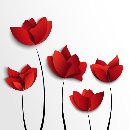 01188s - لایه باز وکتور گلهای بهاری زیبا