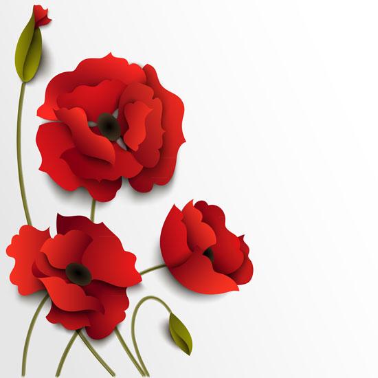 01190s - لایه باز وکتور گلهای بهاری زیبا