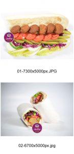p311 145x300 - عکس با کیفیت ساندویچ فلافل با گوجه کلم کاهو