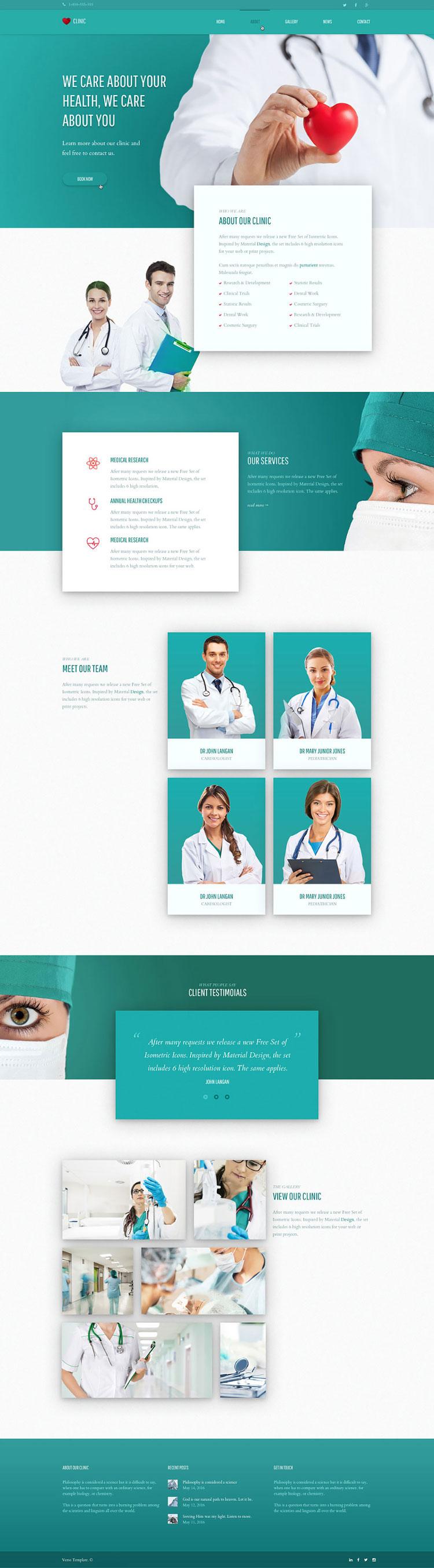 p416 - طرح آماده وب سایت پزشکی سلامت بسیار زیبا