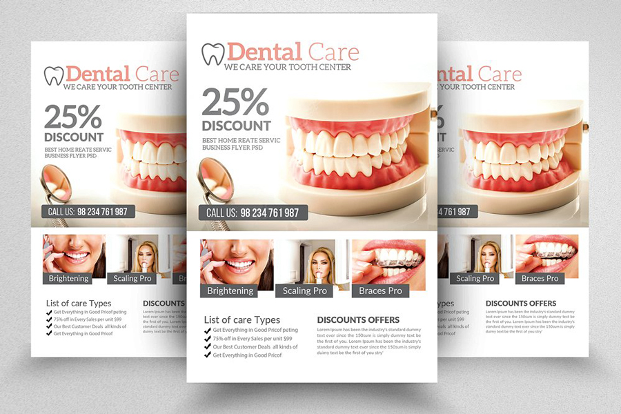 m117 - دانلود لایه باز تراکت یا پوستر دندانپزشکی و مراقبت دندان