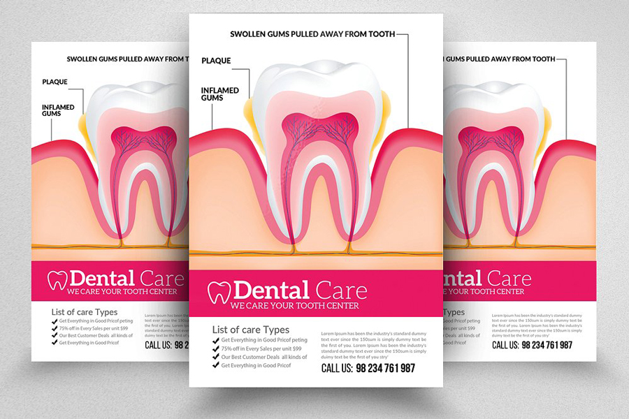 m118 - دانلود لایه باز تراکت یا پوستر دندانپزشکی و مراقبت دندان